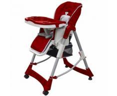 Chaise haute réhausseur bébé Rouge Maja+ MJ10064