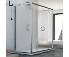 Cabine douche à trois côtés 70x170x70 CM H185 granité C modèle Replay Trio avec 2 portillons