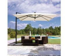 Parasol carré 3x3 m en aluminium gris anthracite   polyester