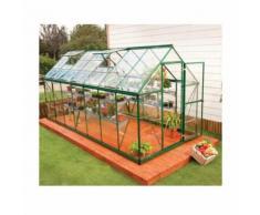 Serre de jardin en polycarbonate Harmony 7,95 m², Couleur Argent, Ancrage au sol Non - longueur :
