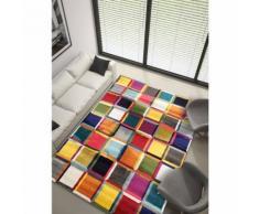 Unamourdetapis - Tapis de Salon Moderne Design - BOUTIK CARRE 3D - Polypropylène 240 x 340 cm