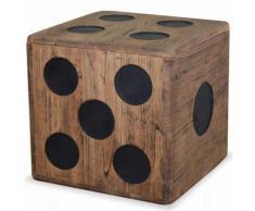 Boîte de rangement Bois Mindi 40 x 40 x 40 cm Design Dés MJ244559