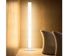 Lampadaire blanc design BT 04 LUMEN CENTER ITALIA - Chromé