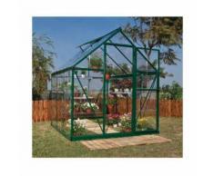 Serre de jardin en polycarbonate Harmony 3,44 m², Couleur Vert, Ancrage au sol Non - longueur : 1m86
