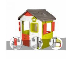 Cabane enfant Neo Jura Lodge - Smoby + Porte maison + Récupérateur d'eau + Cuisine d'été