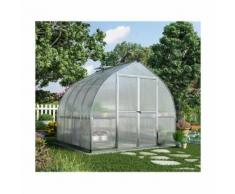 Serre de jardin en polycarbonate Bella 5,95 m² - longueur : 2,44 m