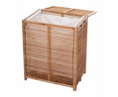 Panier à linge en bambou avec sac 61x50x35cm 105 litres