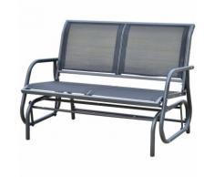 Banc à bascule de jardin design contemporain grand confort accoudoirs assise et dossier ergonomique