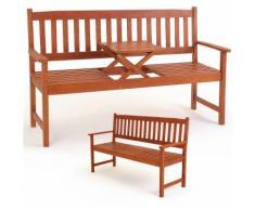 Banc de jardin en bois avec plateau rétractable 3 pers. - Jardin Terrasse Balcon