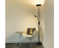 QAZQA Moderne Lampadaire / Lampe de sol / Lampe sur Pied / Luminaire / Lumiere / Éclairage Diva LED