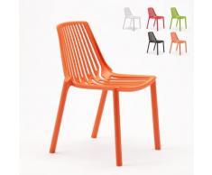 Chaise internes et externes bar café restaurant et jardin empilable en polypropylène Design LINE |
