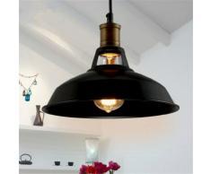 Lustre Suspension Industrielle Vintage E27 Lampe Plafonniers Retro Abat-jour pour Cuisine Salle ?