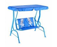 Balancelle de Jardin pour Enfants 2 Places,Toit Anti-UV Balançoire Jardin pour Enfants Chaise