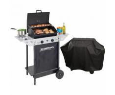 Barbecue gaz grill CAMPINGAZ XPERT100LS +Rocky Cuisson pierre de lave cuisson 44 X 34 + grille