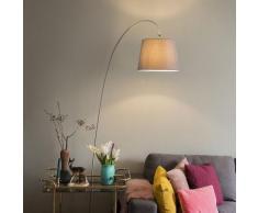 QAZQA Moderne Lampadaire / Lampe de sol / Lampe sur Pied / Luminaire / Lumiere / Éclairage Bend