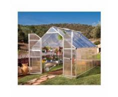Serre de jardin en polycarbonate Essence 8,8 m² - longueur : 3,67 m