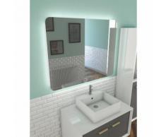 Miroir salle de bain LED auto-éclairant ATMOSPHERE 100x80cm