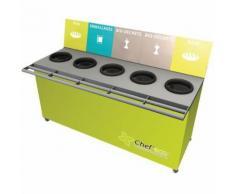 table de tri 5 collecteurs sans pesée t enfant h. 760mm vert,