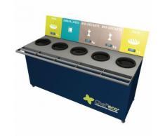 table de tri 5 collecteurs 3 pesées t enfant h. 600 mm bleu,