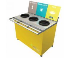 table de tri 3 collecteurs 1 pesée t enfant h. 760 mm jaune,