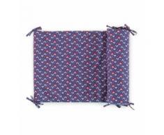 Tour de lit Odessa Jalla percale coton indigo 45 x 185 cm Bleu Descamps