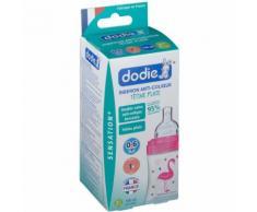 dodie® Biberon Sensation+ 150 ml Rose Flamant tétine débit 1 150 pc(s) 3700763501932