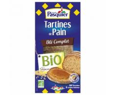 Tartines De Pain Blé Complet Bio Brioche Pasquier - La Boîte De 24 Tranches