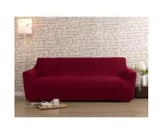 Housse de canapé 2 places rouge bi-extensible LISA