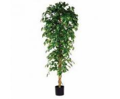 plante artificielle ficus benjamina vert hauteur 210cm,