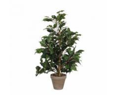 plante artificielle ficus exotica vert hauteur 65 cm,