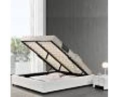 Sommier coffre de rangement Room - Couleurs - Blanc, Tailles - 140x190