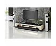 Meuble TV design personnalisable Almeria avec éclairages simili-cuir