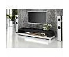 Meuble TV design personnalisable Nimes avec éclairages simili-cuir