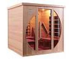 Sauna infrarouge LOUNGE 2 places panneaux carbone et céramique 3300W - Snö