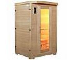 Sauna infrarouge panneaux céramique 1750W 2 places - Snö