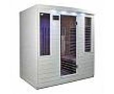 Sauna infrarouge blanc panneaux carbone 3100W 4 places - SNÖ
