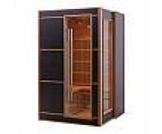 Sauna infrarouge LINEA BLACK 2-3 places panneaux carbone 2100W - Snö