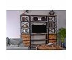 Bibliothèque, meuble TV industrielle Atelier