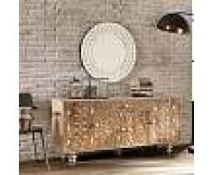 Viadurini Living Buffet ethnique de design fabriqué en bois de manguier verni Centola