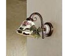Ferroluce Applique faite en céramique de style rustique Napoli par Ferroluce