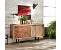 Viadurini Living Buffet moderne en bois de manguier à deux portes coulissantes Roana