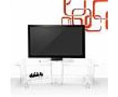 Meuble TV de design moderne en plexiglas transparent Mago Double