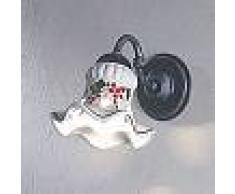 Ferroluce Applique de design rustique faite en céramique Chieti par Ferroluce