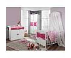 mobistoxx Chambre bébé complète PIPA blanc/rose