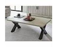 mobistoxx Table basse CRISTAL rectangulaire 130 cm valonia