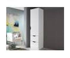 Mobistoxx Armoire FREEDOM 1 porte 2 tiroirs blanc sans miroir