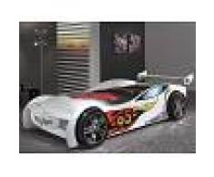 Mobistoxx Lit enfant voiture SPEED TURBO 90x200 cm blanc