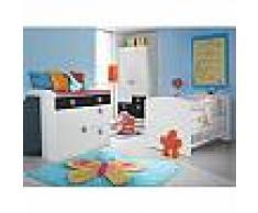 mobistoxx Chambre bébé complète SKUNK 70x140 cm blanc/gris