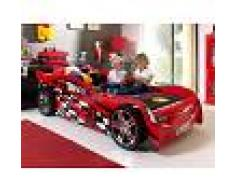 Mobistoxx Lit enfant voiture NIGHT SPEEDER 90x200 cm rouge