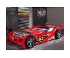Mobistoxx Lit enfant voiture SPEED TURBO 90x200 cm rouge